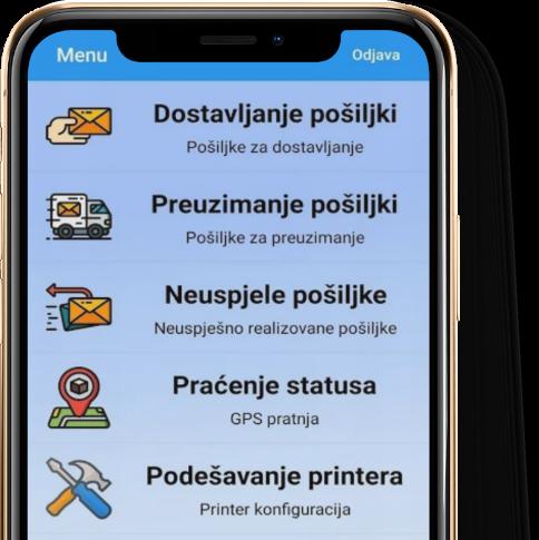A2B brza pošta aplikacija za praćenje pošiljke/narudžbe.